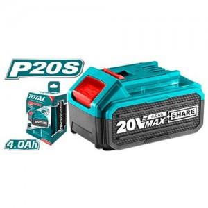 PILA RECARGABLE LITIO 20 VOLT 4 AMP. TFBLI2002 TOTAL TOOLS