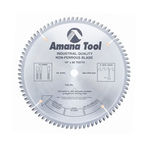 "SIERRA CIRCULAR TUNGSTENO ALUMINIO AMANA 510801 10"" X 80"