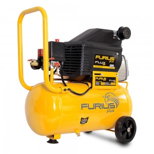 COMPRESOR CON TANQUE HORIZONTAL 2.5 HP  25 LTRS FURIUS FC25
